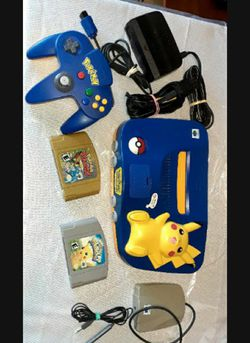 Nintendo n64 Pikachu edition RARE with Games for Sale in Fresno,  CA
