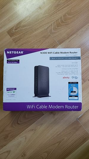 Netgear N300 (Model C3000-100NAS) Cable Modem Router for Sale in San Jose, CA