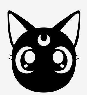 Sailor Moon Cat Vinyl Decal Sticker for Sale in Riverside, CA