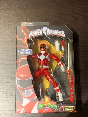 Power Rangers Legacy ~ METALLIC RED RANGER ACTION FIGURE ~ Bandai for Sale in San Diego, CA