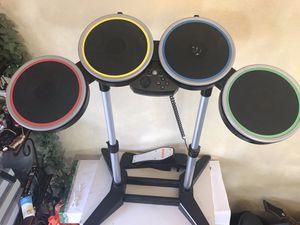 Rock Band Harmonix PS2 PS3 PS4 Wireless Drum Set PSDMS2 w/ Foot Pedal for Sale in Oak Glen, CA