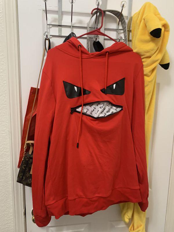 fendi zip mouth hoodie
