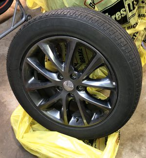 FOUR 5 lug rims and tires 20in for Sale in Tacoma, WA
