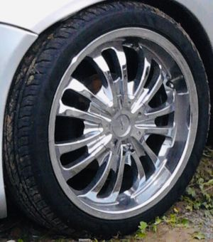 """17 Tyfun universal rims with tires for Sale in Fresno, CA"