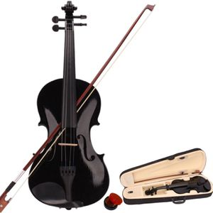 New Band 4/4 Acoustic Orchestral Violin Fiddle Black with Case Bow Rosin for Sale in Columbia, MD