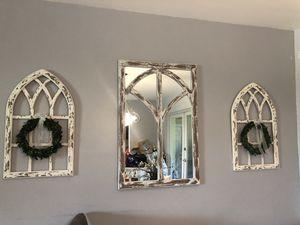 Farmhouse style mirror & wall decor for Sale in Pembroke Pines, FL