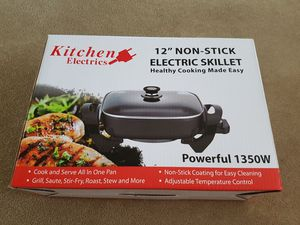 """Brand New Kitchen Electrics 12"""" Non-Stick Electric Skillet Powerful 1350W for Sale in Hillsborough, CA"""