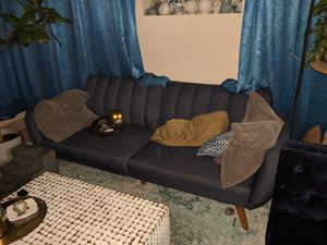 Navy blue couch futon for Sale in Staten Island, NY