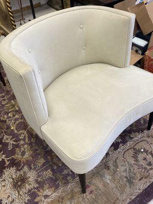 Room & board chloe suede leather ivory chair for Sale in Deerbrook, WI