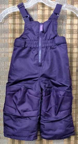 Snow bib/overalls-Girls Toddler purple size 12 months for Sale in TN OF TONA, NY