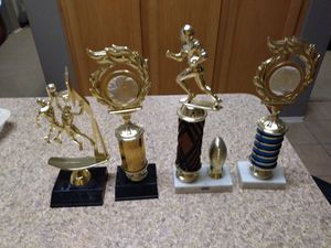 4 trophies that can be replated and given to a kid for Sale in Tomball, TX