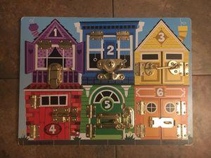 Melissa & Doug Latch Puzzle Board for Sale in Lafayette, CA