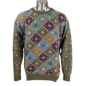 LKNW MultiColored FACONNABLE Handknitted Sweater Alpaca Wool Sz L for Sale in Bellevue, WA