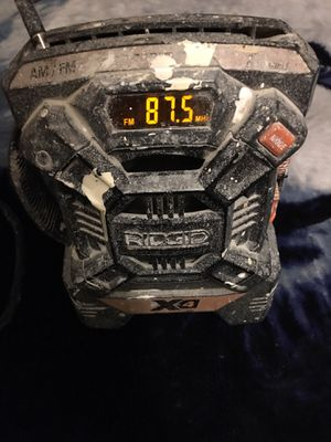 Ridgid battery work radio for Sale in Los Angeles, CA