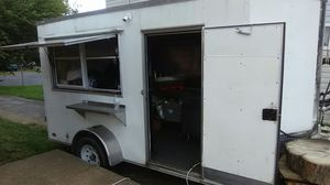 2016 food trailer, deep freezer, cold box, grill top, deep fryer, ac, three sinks, hand sink and much more! for Sale in Harrisonburg, VA