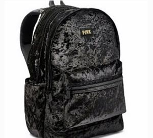 Pink Victoria Sercet Backpack Black and Gold for Sale in Hacienda Heights, CA