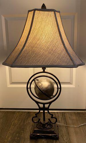Working Metal Sphere Orbit Orbital Globe Accent Table Lamp for Sale in Chapel Hill, NC