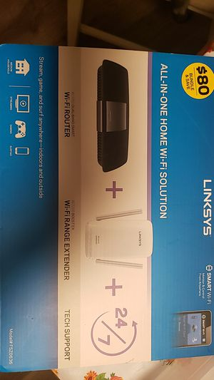 Linksys wifi router & range extender for Sale in Cranston, RI