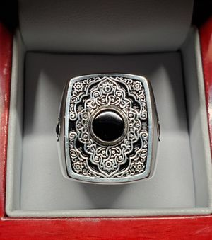 Sterling silver ring & black onyx stones for Sale in Beaverton, OR