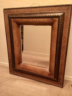 Large Thick Beautiful Wood Framed Mirror 26 x 30 x 2 inches for Sale in Gilbert, AZ
