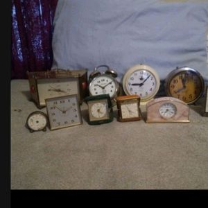 (11) VINTAGE clocks, Fives Working Now, Good Brands for Sale in Oklahoma City, OK