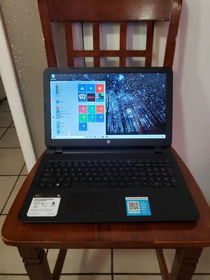 HP 15 TOUCHSCREEN LAPTOP WINDOWS 10 HOME AMD A8-7410 4GB 500GB HD 15.6 INCHES WINDOWS 10 HOME for Sale in Glendale, AZ