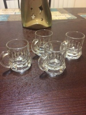Antique mini glass cups for Sale in Cleveland, OH
