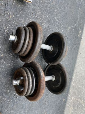 Adjustable dumbbells 35lbs each one for Sale in Davie, FL