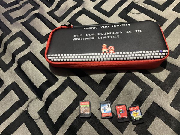 Nintendo switch games and case