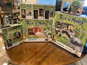 Rick & morty McFarlane collectible toys figures like legos for Sale in Los Angeles, CA