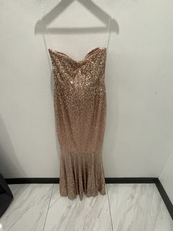 Sequin Mermaid Rose Gold Dress Medium Size for Sale in Houston,  TX