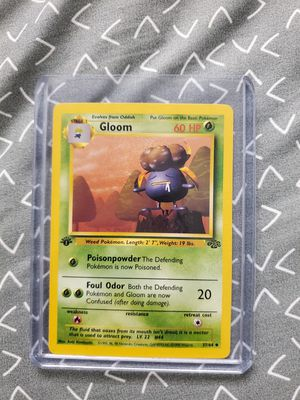 1999 Pokemon Jungle 1st Edition Gloom 37/64 for Sale in Indianapolis, IN