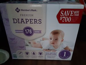 176 Members Mark Diapers Sam's Club Size 1 for Sale in Austin, TX