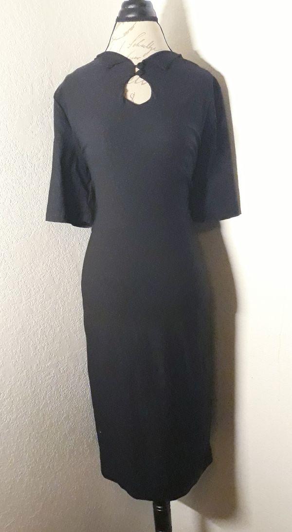 Very Cute Black Biz-Sexy 1/2 Sleeve Maxi Dress Sz 2XL