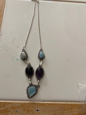 Moonstone and Amethyst necklace in sterling silver for Sale in Port Richey, FL