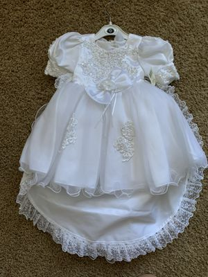 Brand new never worn girls baptismal gown christening dress for Sale in Las Vegas, NV