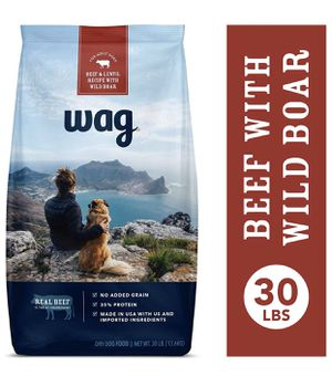 Wag Amazon Brand Dry Dog Food Beef 30 lb Unopened for Sale in Fullerton, CA