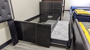 Twin trundle bed frame with mattresses included for Sale in Glendale, AZ