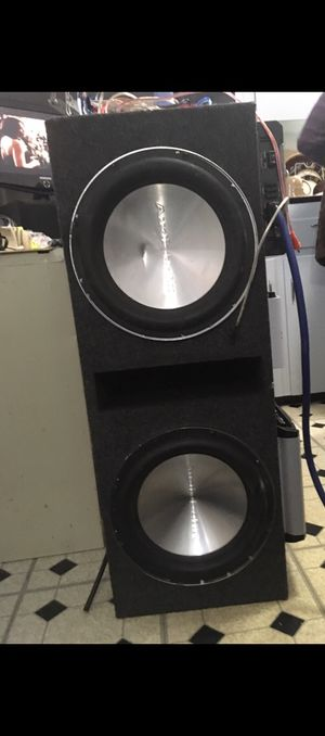 """2, 12"""" Audio Ban speakers & box for Sale in Euclid, OH"""