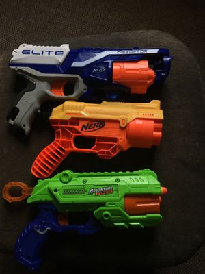 No Bullits but three nerf guns brand new no damage for Sale in Providence, RI