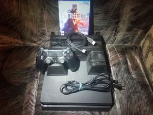 """Sony Ps4 Slim 500Gb W Remote Game Cooling Stand W Charger and All Cords. """"Fully Functional and Working"""" for Sale in Banning, CA"""