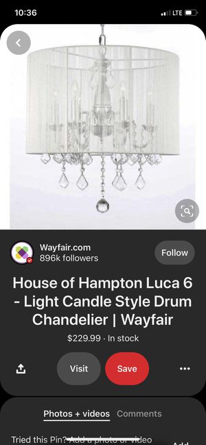 Chandelier white string light fixture for Sale in Covina, CA