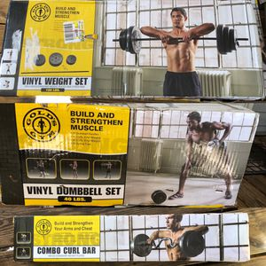 Golds gym work out equipment!! In box for Sale in Groveland, FL