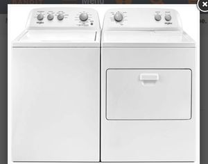 Whirlpool washer and dryer . verry nice used 2 times for Sale in Alton, IL