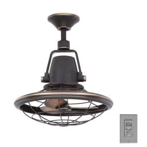 Bentley II 18 in. Indoor/Outdoor Tarnished Bronze Oscillating Ceiling Fan with Wall Control for Sale in Houston, TX