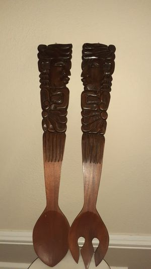 """33""""hand- carved wood fork &spoon for Sale in TWN N CNTRY, FL"""
