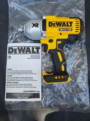 """DeWALT 20V MAX XR BRUSHLESS 3-SPEED HIGH TORQUE 1/2"""" IMPACT WRENCH WITH DETENT PIN ANVIL (TOOL ONLY) for Sale in Los Angeles, CA"""