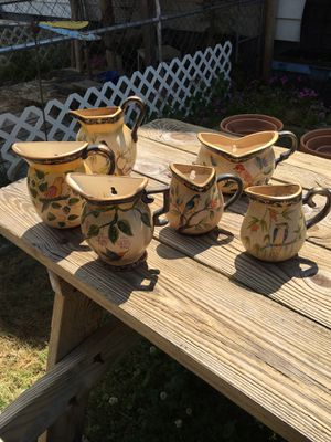 Ceramic half pots bird decor for Sale in Colerain, NC