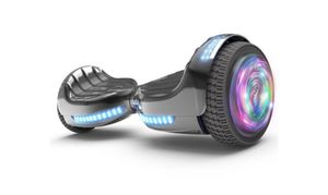 """Flash Wheel Certified Hoverboard 6.5"""" Bluetooth Speaker with LED Light Self Balancing Wheel Electric Scooter - Chrome Black for Sale in Tamarac, FL"""