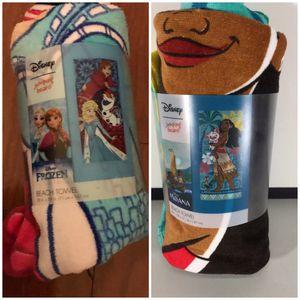 Disney Frozen & Moana towels for Sale in Hialeah, FL
